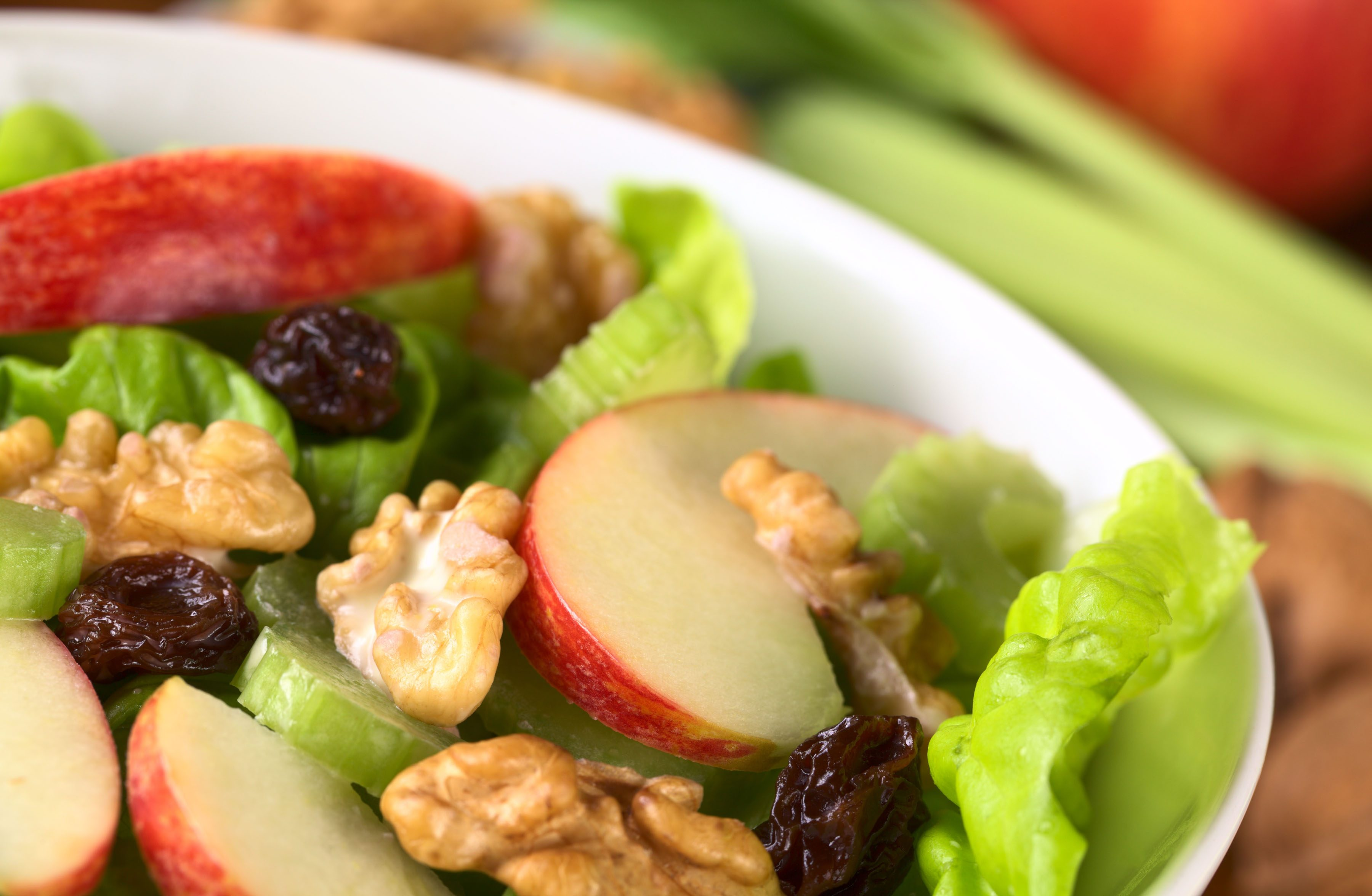 Apple and Cheddar Salad with Maple Dressing and Candied Walnuts