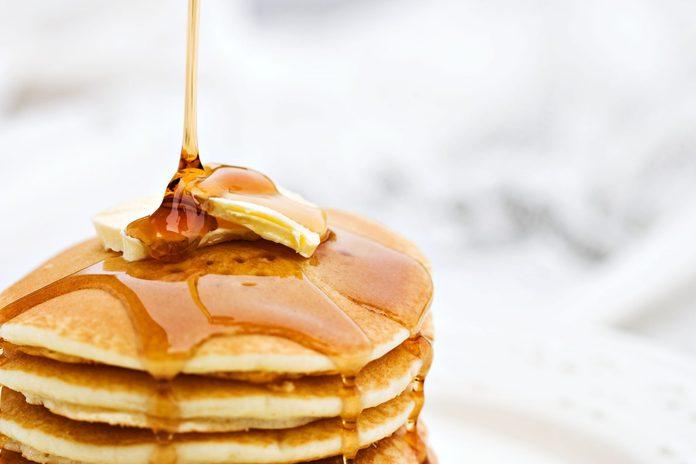 Apple-walnut pancakes