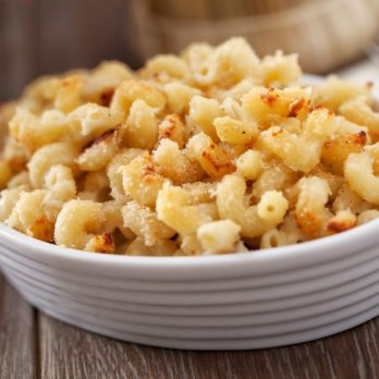 Baked Macaroni with Four Cheeses