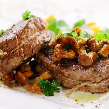 Fillet Steaks with Wild Mushrooms and Shallots