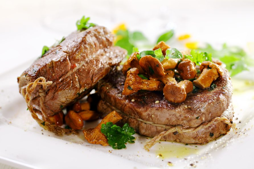 Fillet steak and mushroom