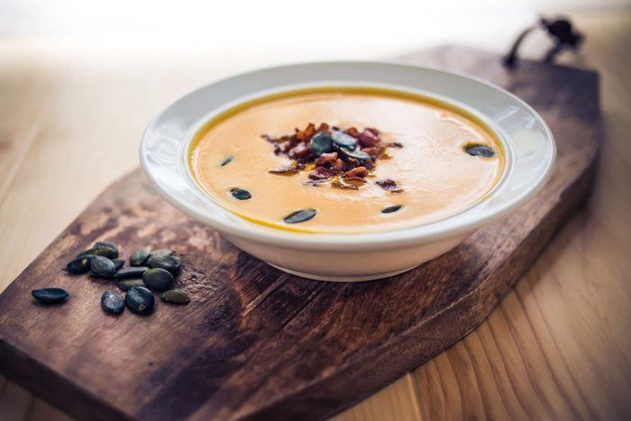 Pumpkin soup with bacon