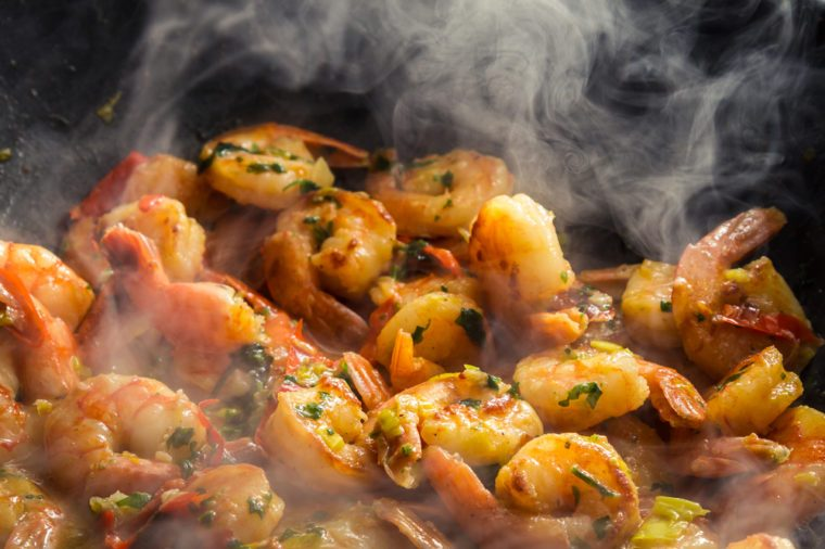Sautéed Shrimp with Parsley