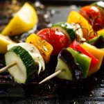 Vegetable Kebabs with Saffron Butter