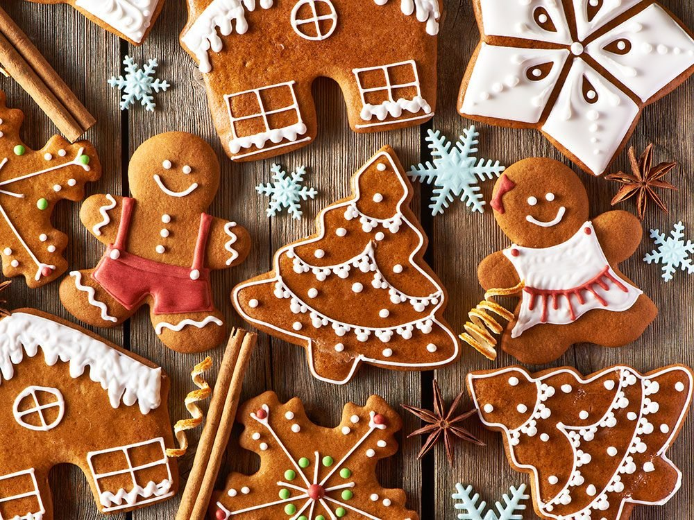 Assorted gingerbread cookies