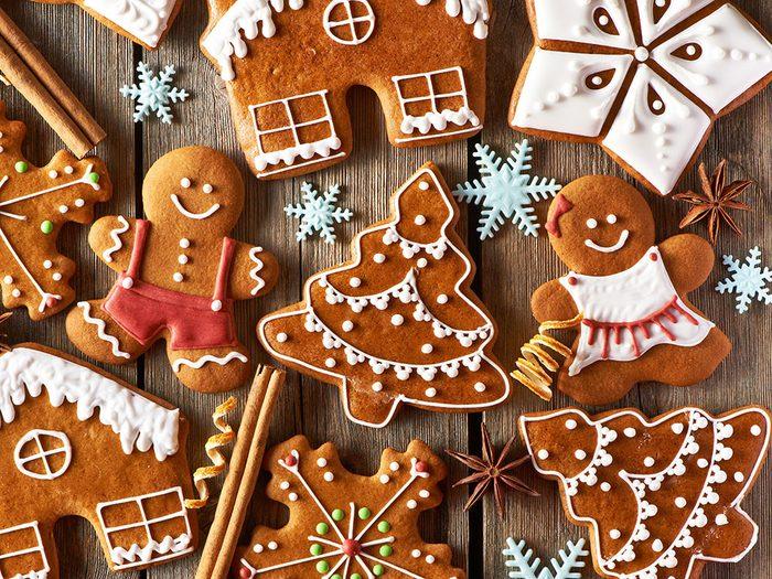 Assorted gingerbread cookies