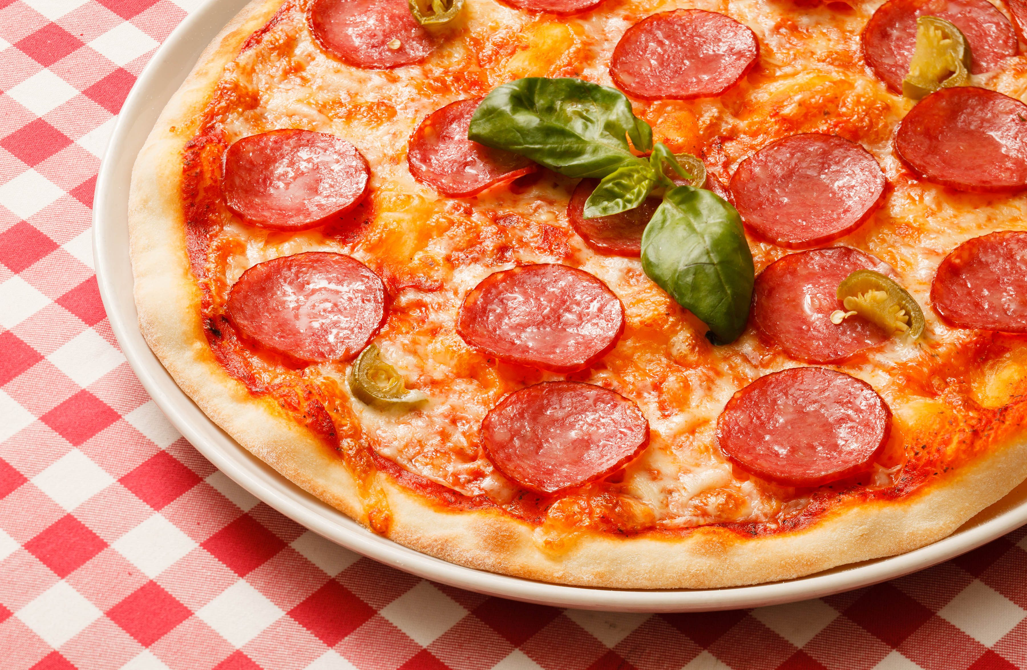 Healthy Food With Pepperoni