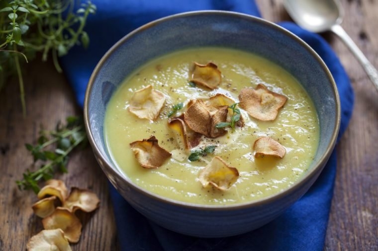 Aromatic parsnip soup