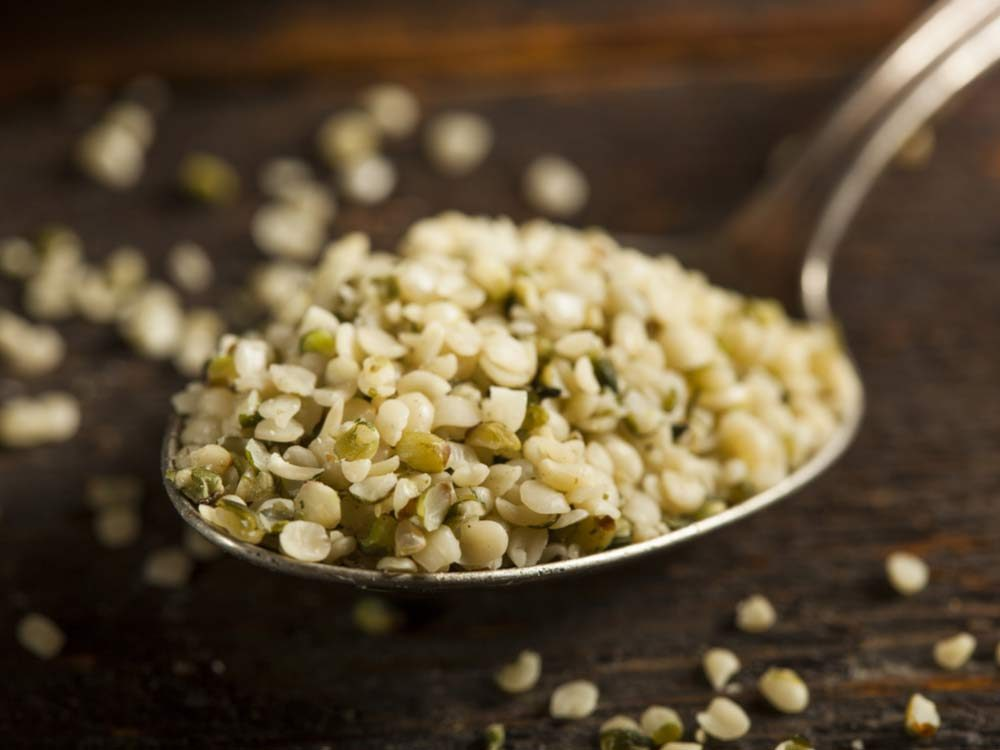 Spoonful of hemp seeds