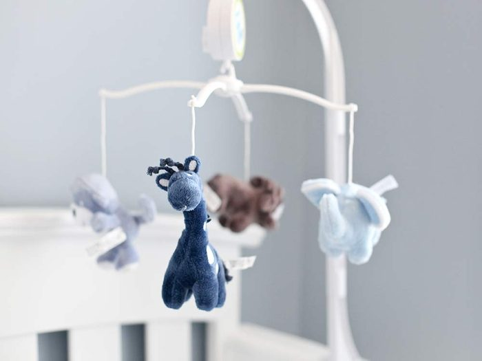 Children's mobile with stuffed animals