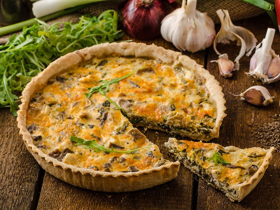 Hanukkah Broccoli and Mushroom Pie