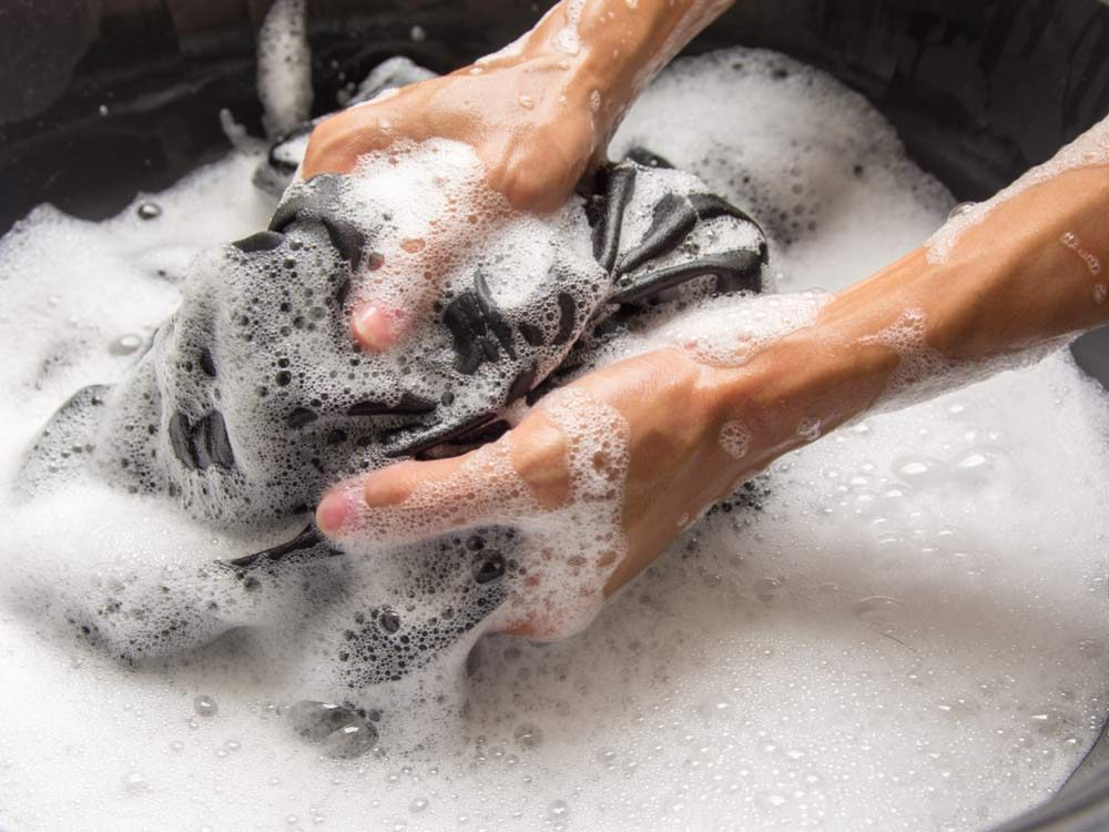 Hand-washing clothes