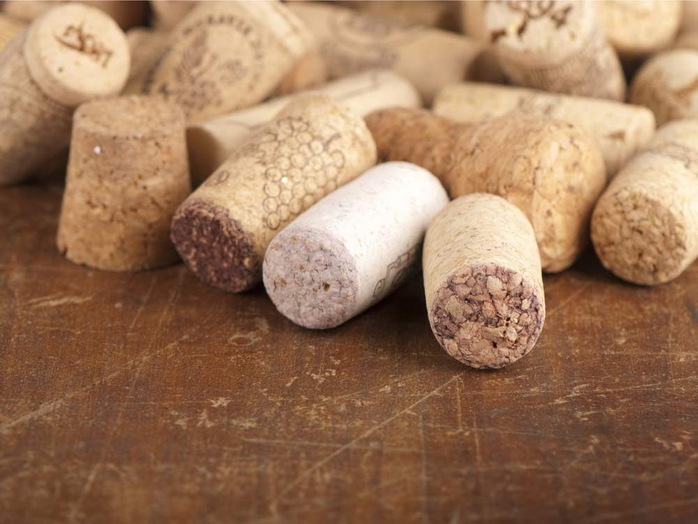 Use corks to create fishing bobbers