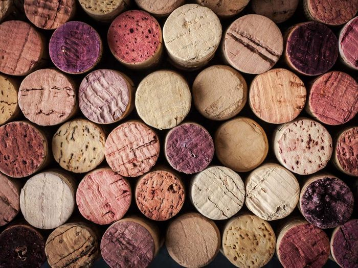 Use corks to create cool bead curtains
