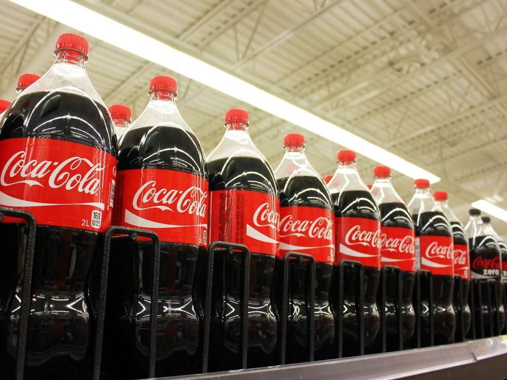 Coca Cola bottles in supermarket