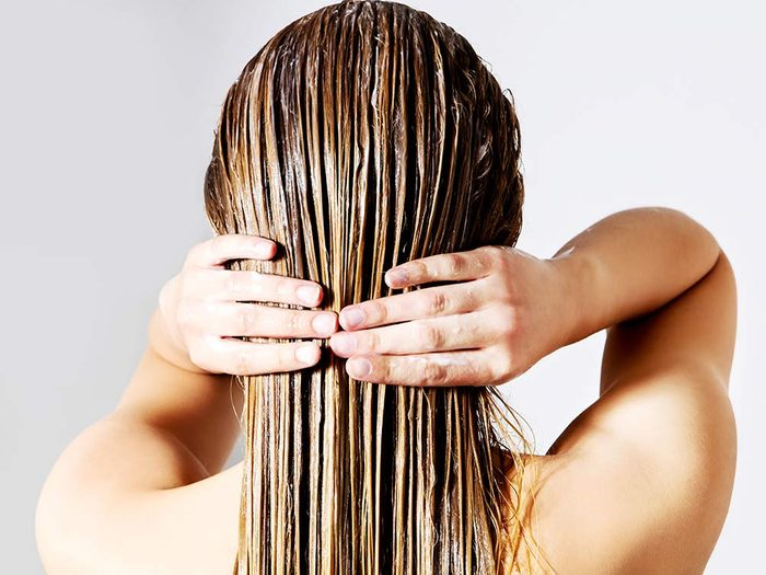 Use mayonnaise to condition your hair