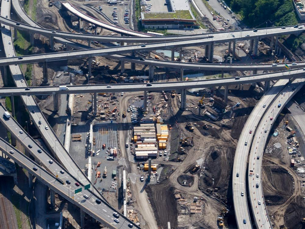 Highway system in Montreal