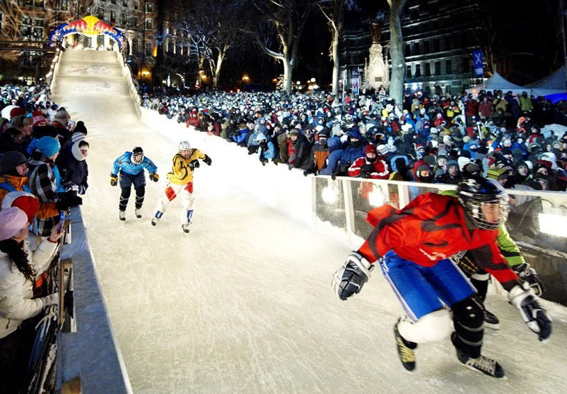 Extreme ice skating