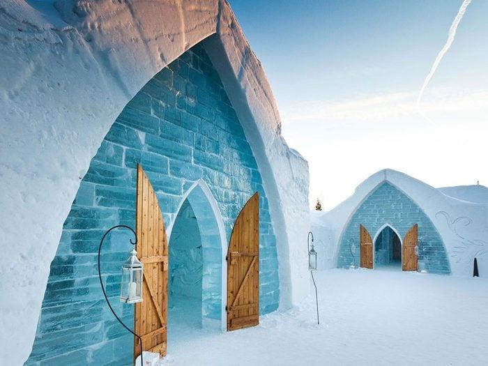 Ice hotel in Quebec