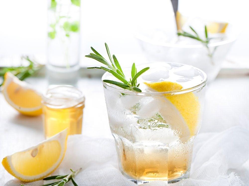 Club soda in a cocktail