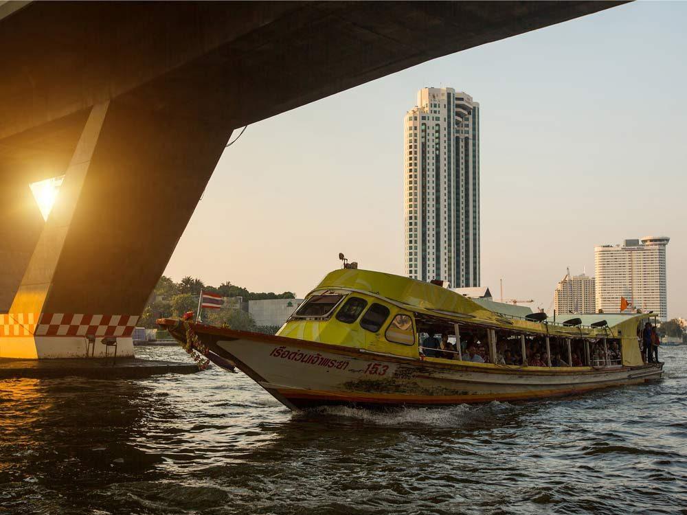 Canal Taxi in Bangkok, Thailand