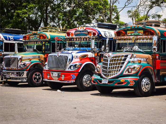 Chicken Buses in Guatamala