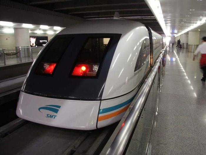 Maglev Train in Shanghai, China