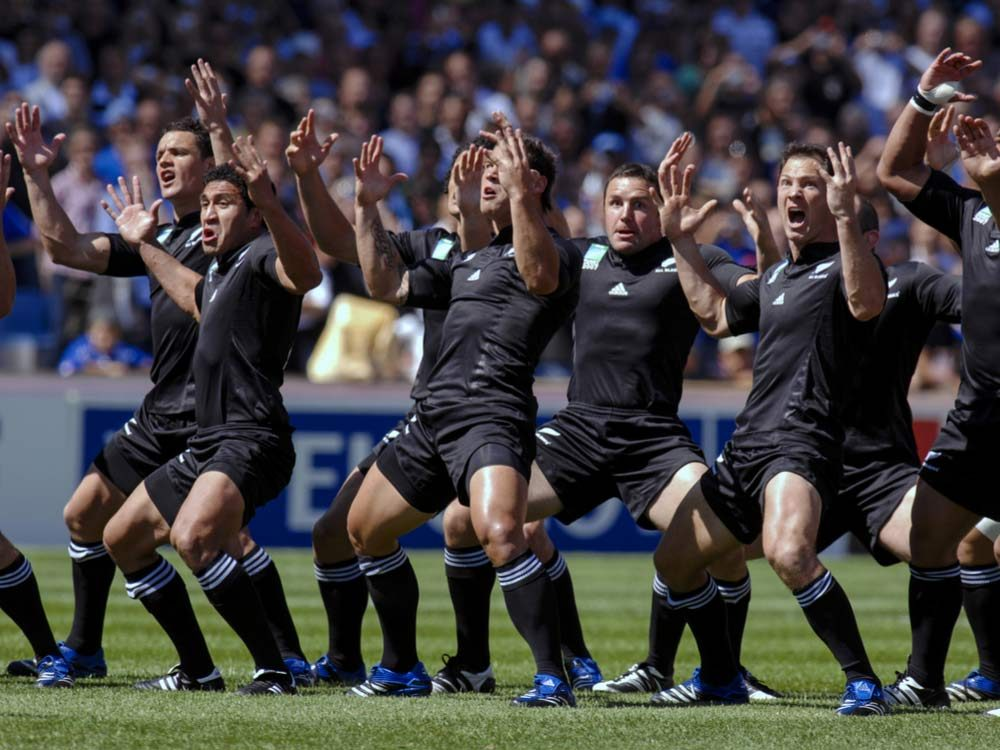 Haka dancing in New Zealand