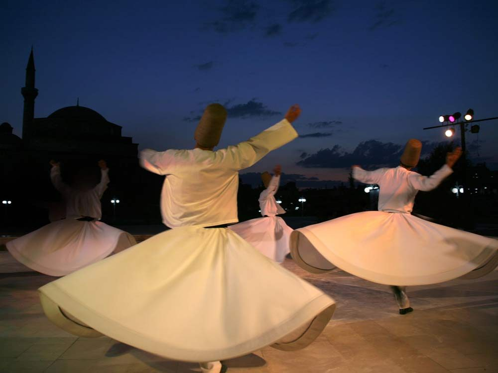 Whirling dervishes in Istanbul, Turkey