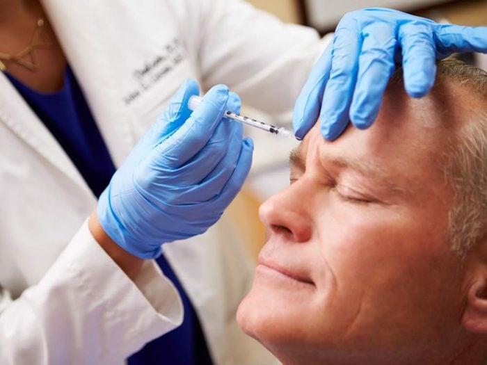 Man having botox treatment