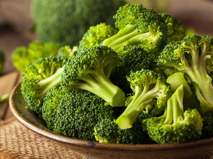 Eat raw and leafy green vegetables