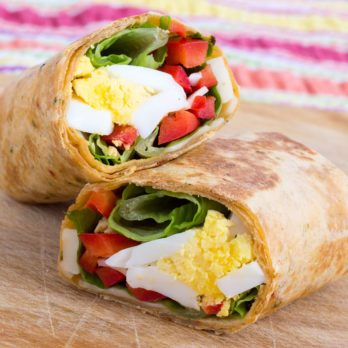 Asparagus and Cheese Omelette Wrap
