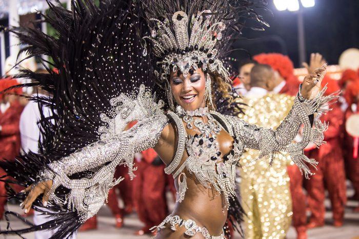Samba dancer in Rio de Janeiro