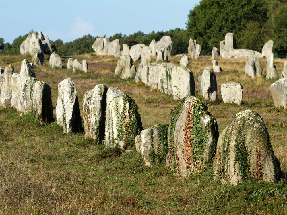 Carnac stones in Brittany, France