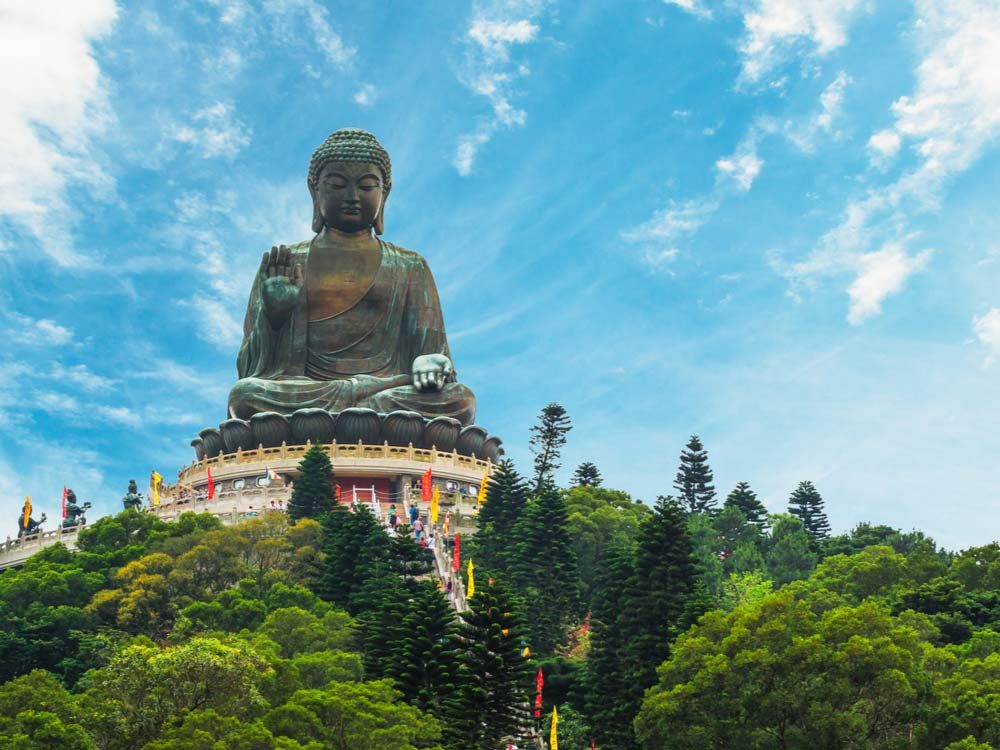 The Po Lin Monastery is one of the most popular Hong Kong attractions