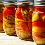 Preserved roasted peppers