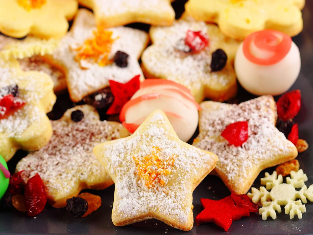 Assorted Christmas cookies