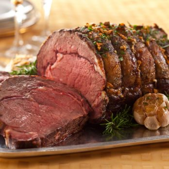Rib Roast with Roasted Garlic