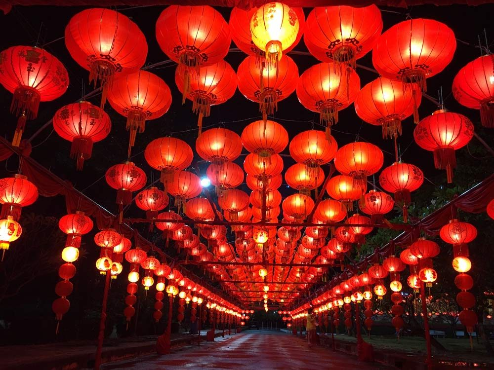 Red lanterns for Chinese festival