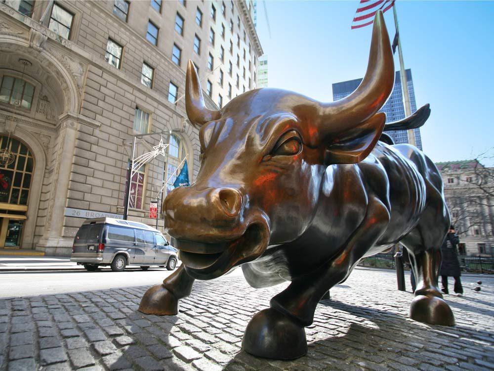 Bull statue in New York City