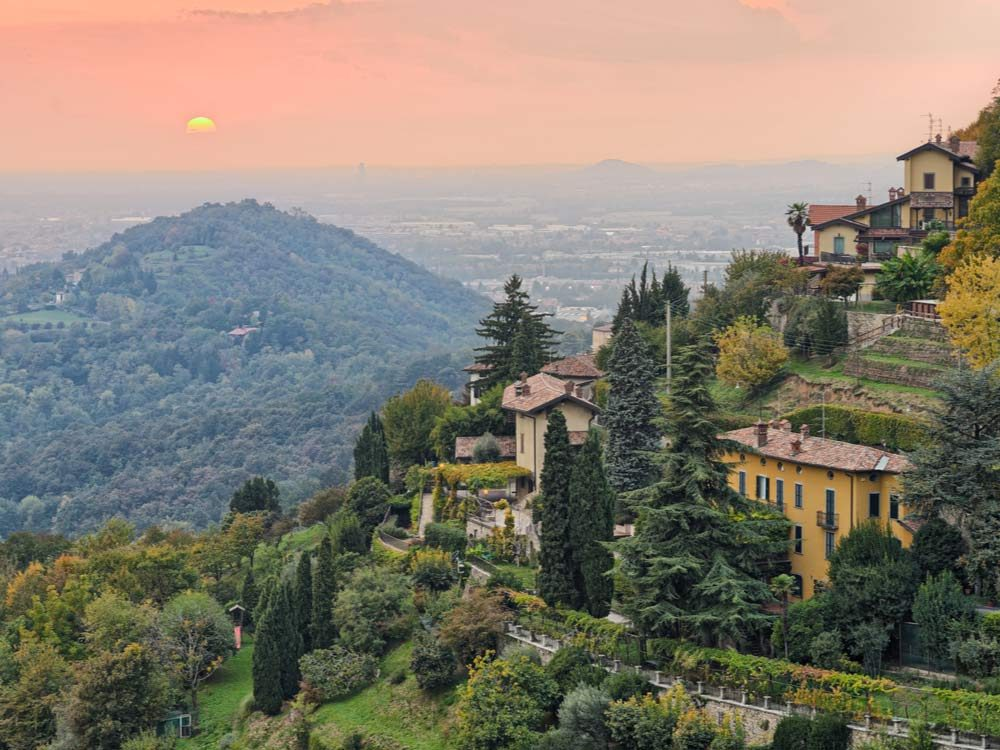 The town of Bergamo in Italy
