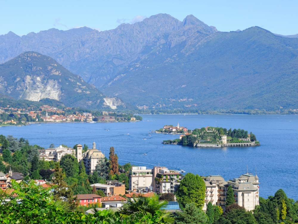 Northern Lake Maggiore in Italy