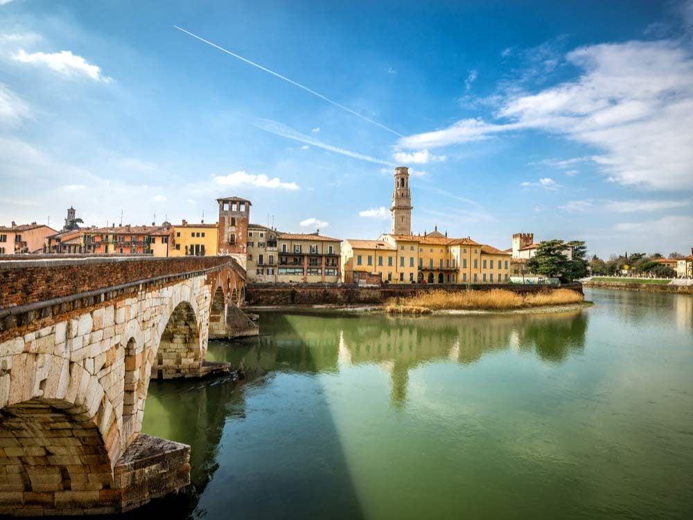 Bridge in Verona, Italy