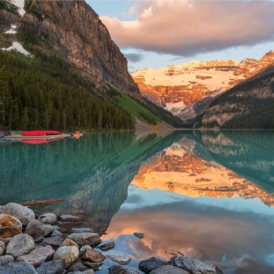 Lake Louise in Banff, Alberta is one of the greatest Canadian attractions