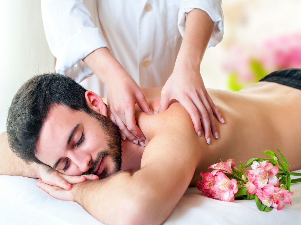 Man enjoying a relaxing massage