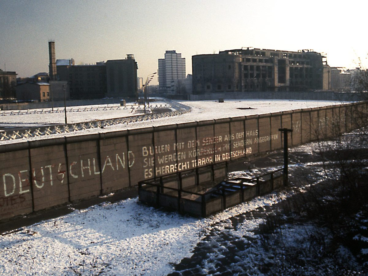 Berlin Wall in the early 1980s