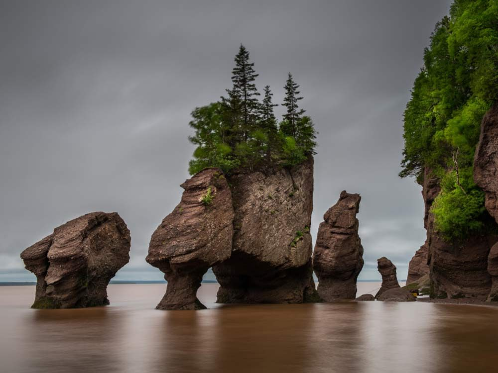 Hopewell Rocks in New Brunswick