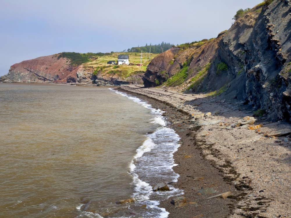 Joggins Fossil Cliffs in Nova Scotia