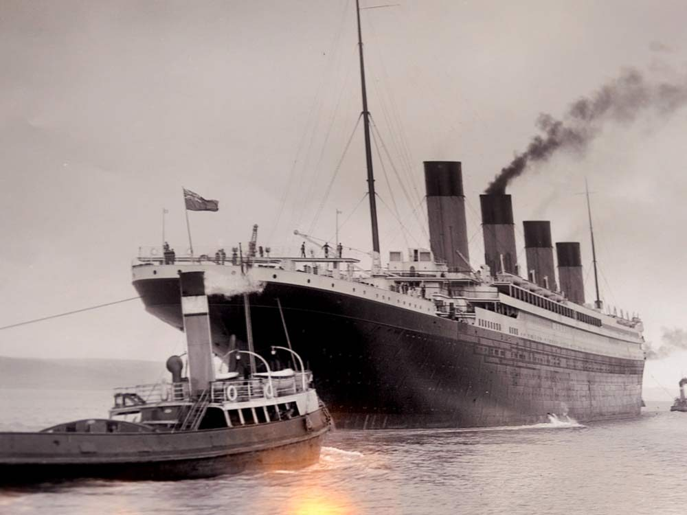 Original photograph of the Titanic