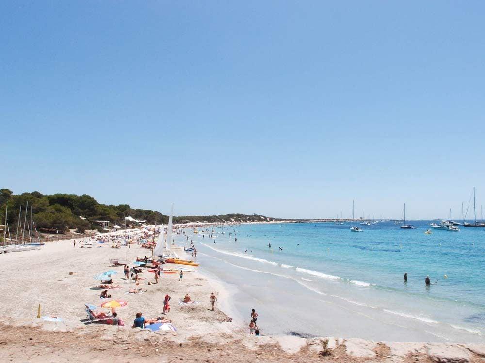 Las Salinas Beach, Ibiza, Spain